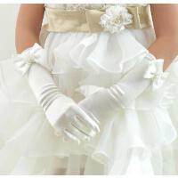 手套韩版六一粉红色女童婚纱手套儿童礼服手套礼仪手套休闲新款公主裙配饰手套