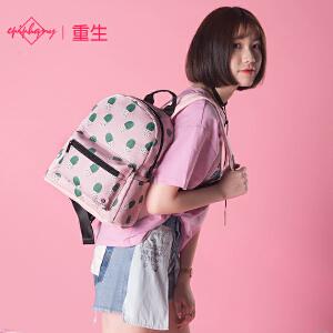 epiphqny2018新款韩版仙人球印花女学生迷你双肩包休闲百搭ins风背包
