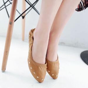 O'SHELL欧希尔新品057-1605韩版平底鞋女士豆豆鞋