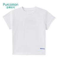 全棉时代 白色女童针织短袖T恤1件装