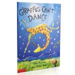 【中商原版】长颈鹿不会跳舞 英文原版绘本 Giraffes Can't Dance 童谣儿歌书 养成自信乐观的生活态度