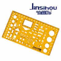 Jinsihou金丝猴4353 电工模板尺/宽 耐折不易断建筑家具模板学生设计裁剪用透明K胶有机塑料尺子绘图制图仪尺