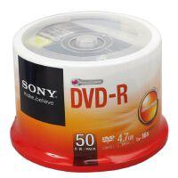 SONY 索尼刻录盘 16X 4.7G DVD-R +R 空白光盘 dvd刻录盘 50片装