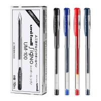 日本�M口uni三菱中性�Pum100�P芯套�b�M合0.5�W生用uniball文具用品�k公�字�PUM-100�W生用考�三棱黑色