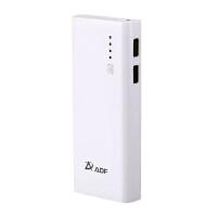 【当当自营】 ADF安德丰 Q11 大容量移动电源/充电宝 11000mAh 双USB输出 白色 平板可用