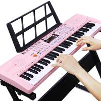 活石 儿童电子琴54键电子钢琴 启蒙早教多功能益智音乐玩具儿童钢琴带麦克风节生日礼物