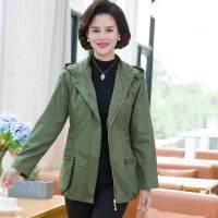 中年女装秋装外套长袖妈妈装夹克衫中老年女春秋40-50岁风衣