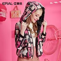 ERAL/艾莱依时尚芭比冬装韩版长袖羽绒服修身短款加厚12043-EDAD