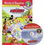 World of Reading Mickey and Friends L2 附CD 2个故事合辑 米奇和他的朋友们