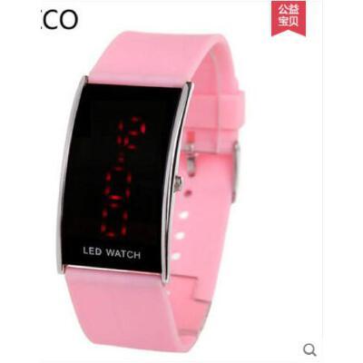 时尚多功能LED皮带表潮日历防水男女新款手表电子表数字休闲表  可礼品卡支付 品质保证 售后无忧 支持货到付款