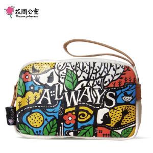 【品牌直供】花间公主 Always彩色随手收纳包时尚2018年原创女士手包