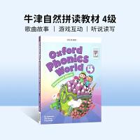 进口英文原版Oxford Phonics World 4牛津自然拼读教材 英文拼读规则学习 4-8岁