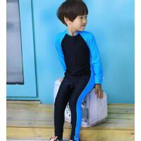 �和�泳衣�B�w防�� 中大童�W生男童游泳衣�L袖����女童 �B�w防�耖L款泳衣 支持�Y品卡
