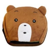 暖手鼠标垫 保暖鼠标垫 可爱加热发热 USB暖手鼠标垫 棕 熊