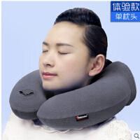 飞机充气睡枕U型旅游用品脖枕坐车护颈枕头三宝套装旅行便携U枕 可礼品卡支付