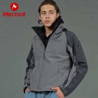 Marmot/土拨鼠2020新款户外男士M1耐磨舒适防水透气软壳夹克上衣