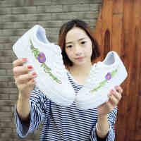 小白鞋女春季2017新款百搭韩版学生女鞋厚底休闲运动鞋板鞋帆布鞋