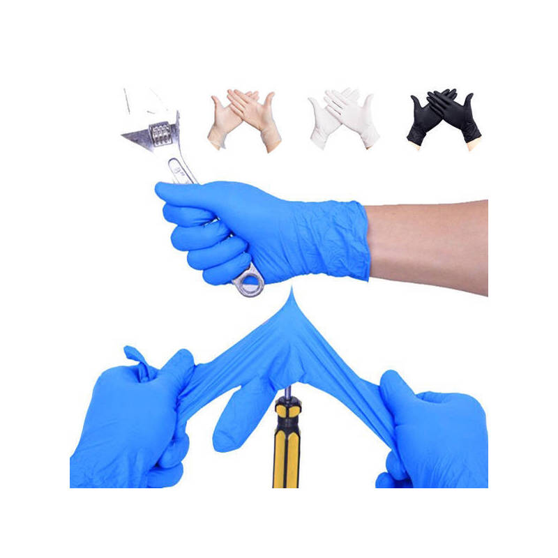 【超值100只】一次性手套女乳胶橡胶防水洗碗食品医用手套加厚-M号蓝色-100只高弹