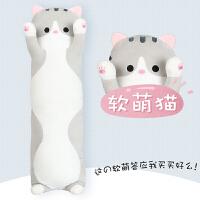 猫咪玩偶毛绒玩具可爱夹腿睡觉长抱枕男女生款抱抱熊床上娃娃公仔