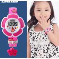 可爱童真女学生腕表女孩潮流手表电子表创意花朵儿童手表可礼品卡支付