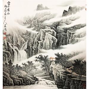 董希源《灵山秀水》著名画家