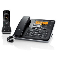 集怡嘉(Gigaset) 西门子C810A 2.4GHz数字无绳电话机(钢琴黑)彩屏