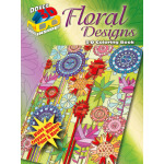 3-D Coloring Book--Floral Designs