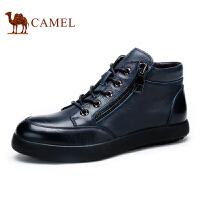 camel 骆驼男靴 韩版潮流保暖皮靴 秋季新款男士短靴 头层皮靴子