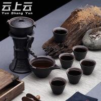 陶瓷懒人冲茶器泡茶器整套黑陶紫砂半自动泡茶功夫茶具套装