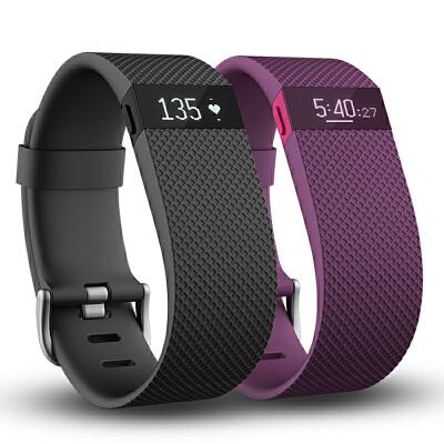 Fitbit Charge HR 智能手环计步器手表 智能手表新款心率手环ios 运动记录 心率监测 睡眠监测 来电通知 同步数据 心率自动监测 睡眠监控 来电提醒