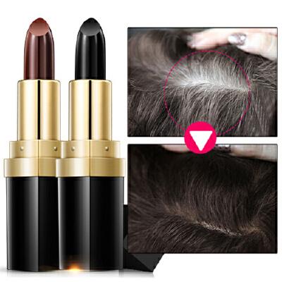 笛爱儿墨鱼汁植物染发笔染发棒美发护发3.5g一次性遮白发不伤发蜡笔