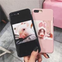 可爱情侣插画小猪6plus苹果x手机壳iPhone7plus/8/6s全包软壳硅胶