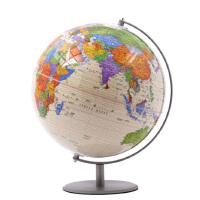 博目地球仪 32cm高清 中英文不锈钢拉丝 高清复古24节气地球仪