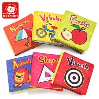 特宝儿 宝宝启蒙婴幼儿早教布书 玩具 带响纸儿童0-1-3岁撕不烂系列书籍婴幼儿早教读物婴儿早教 玩具