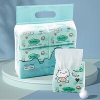 全棉时代新生婴儿棉柔巾纯棉干湿两用纸巾宝宝专用趣萌便携6包