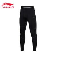 李宁健身裤男士专业系列保暖弹力男装冬季紧身针织运动裤AULM077
