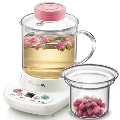 小熊(Bear)迷你养生壶 自动加厚玻璃 电热杯煮花茶壶 YSH-A03C5 0.4L迷你容量 贴心配玻璃滤网 花茶甜品炖煮