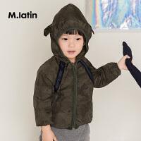 【6折价:119.4元】马拉丁童装男小童夹克外套春秋装可爱设计迷彩连帽短外套