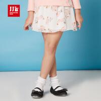 季季乐童装女童春秋季公主裙中小童半身裙子GCQ63033