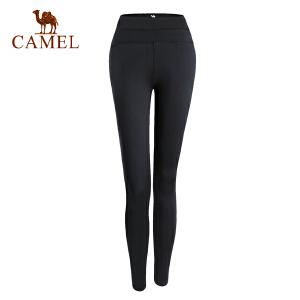 camel骆驼女款健身紧身长裤 女微弹跑步运动瑜伽运动长裤