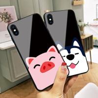 红鼻小猪苹果x手机壳iphone6猪年新款xs max玻璃6s可爱卡通8p情侣7个性创意6plus网红女8本命年7pl