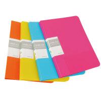 HOMTAI鸿泰文具多彩文件夹长夹+插袋 颜色随机当当自营