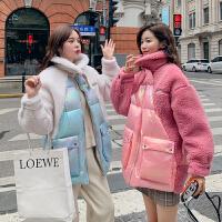 冬季韩版宽松外套孕后期孕妇冬装棉衣羊羔毛皮毛一体棉袄