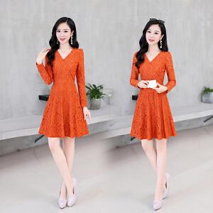 秋季时尚韩版百搭气质优雅潮流显瘦修身连衣裙冬季打底裙