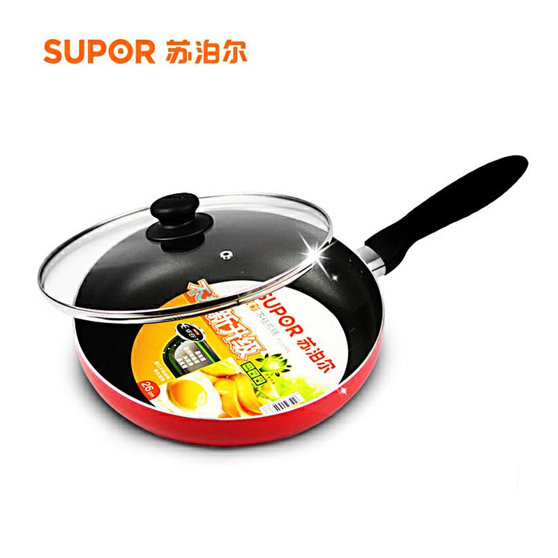 苏泊尔(supor)28cm不粘煎锅 平底锅不粘锅PJ28M4配锅盖燃气灶专用煎锅