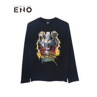 BURANDOENO潮牌男士长袖T恤个性虎头印花套头卫衣 E7FAM41003
