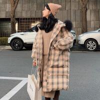 冬季韩版宽松外套孕后期孕妇冬装大码加厚棉衣棉袄