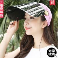 太阳帽 防紫外线 女士户外骑车防晒帽 时尚电动车遮脸遮阳帽