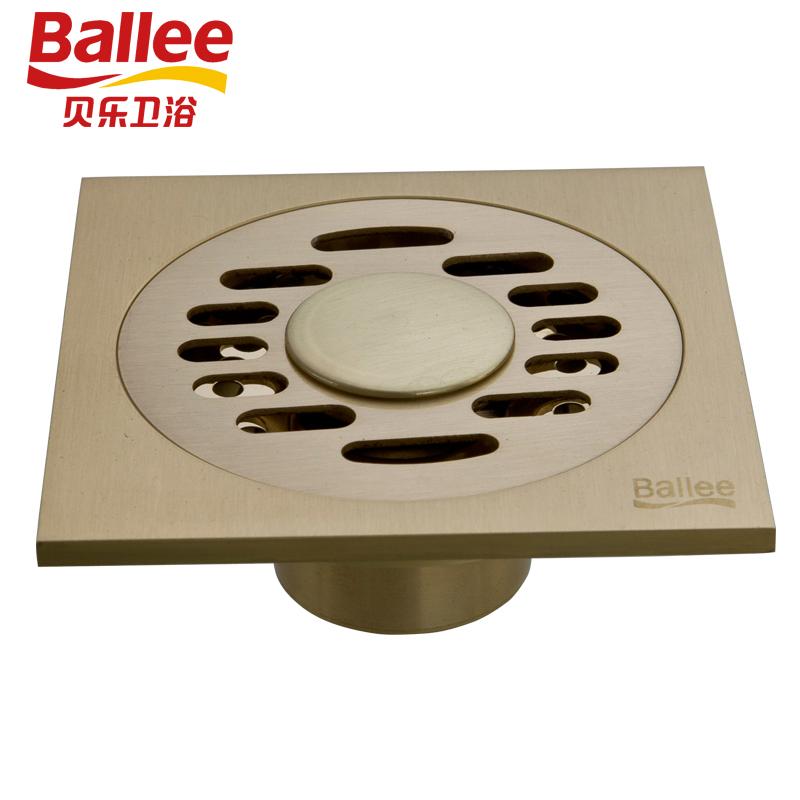 贝乐BALLEET48铜质铜色防臭地漏洗衣机地漏欧式仿古砖