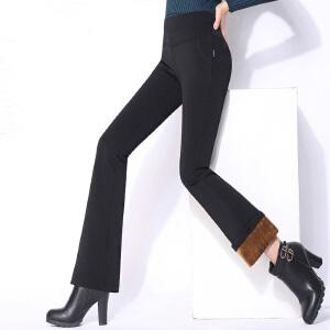 小喇叭裤女裤秋款新款长裤韩版高腰弹力修身嗽叭裤显瘦大码微喇裤